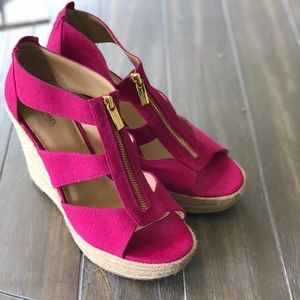 Michael Kors Wedges in Pink Purple Size 10